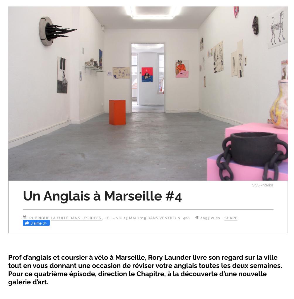 Rory Launder - Un anglais à Marseille - Ventilo - First Sight - Sissi Club - Elise Poitevin & Anne Vimeux